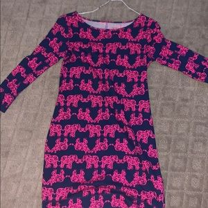 Lilly Pulitzer dress long sleeve elephants